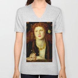 """Dante Gabriel Rossetti """"Bocca Baciata"""" Unisex V-Neck"""