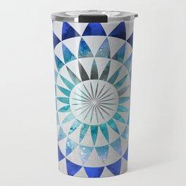 Mandala Pattern blue and turquoise Travel Mug
