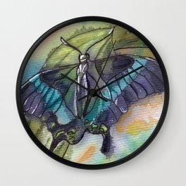Butterfly Bamboo Wall Clock