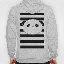 Cute, stripy Panda Face Hoody