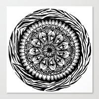 zentangle Canvas Prints featuring ZenTangle  by SLang Designs