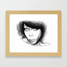 Fat Belly Bella Framed Art Print