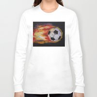 soccer Long Sleeve T-shirts featuring Soccer by Michael Creese