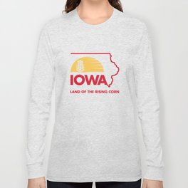Iowa: Land of the Rising Corn - Red and Gold Edition Long Sleeve T-shirt