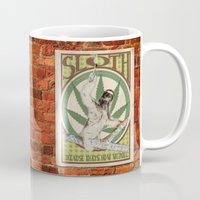 sloth Mugs featuring Sloth by PsychoBudgie