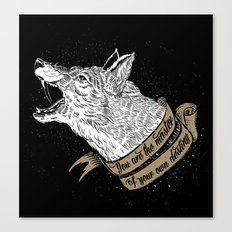 Wolf Protector (Black n Bronze collection) Canvas Print