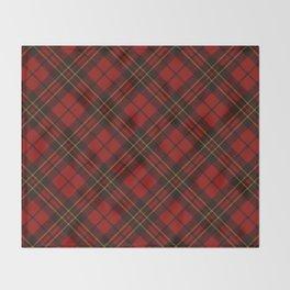Adorable Red Christmas tartan Throw Blanket