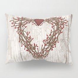 Pip Berry Heart Wreath Pillow Sham