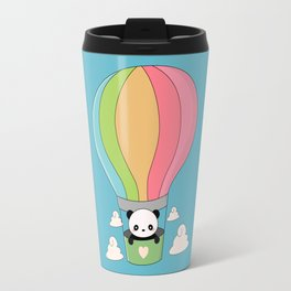 Kawaii Panda Bear Hot Air Balloon Travel Mug