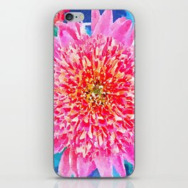 Pink Watercolor Flower iPhone Skin