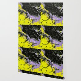 Epic Black and Yellow Texture Painting Wallpaper