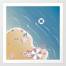 Summer Beach Art Print