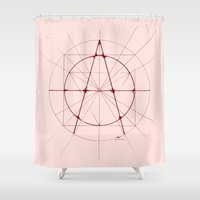 anarchy Shower Curtains featuring XXIst Century Anarchy by Lovedart