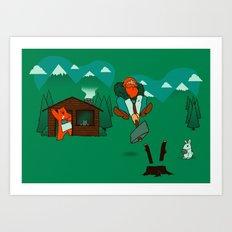 Chop! Art Print
