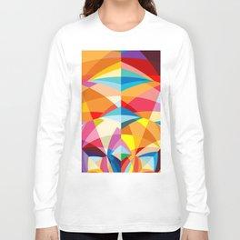 C13D Radial Geometric Long Sleeve T-shirt