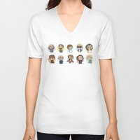 cyrilliart V-neck T-shirts featuring Emoji 1D by Cyrilliart