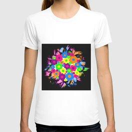 Retro Flower Puff Balls T-shirt