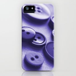 Purple Buttons iPhone Case
