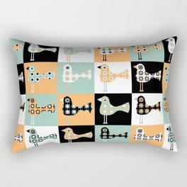 Little Leggy Flowerbirds Rectangular Pillow