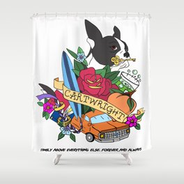 Cartwright Brothers - Fool Series - Coat of Arms Shower Curtain