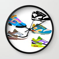 90s Wall Clocks featuring CLASSIC 90s by misha zaccour
