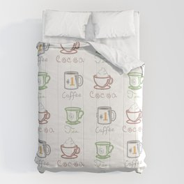 Hot Drinks (Color) Comforters