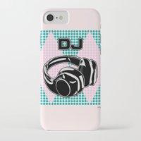dj iPhone & iPod Cases featuring DJ by Şemsa Bilge (Semsa Fashion)