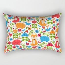 Fox Forest Rectangular Pillow