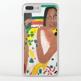 NO WOMAN DON'T CRY Clear iPhone Case