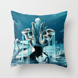 Everlasting Blues Throw Pillow