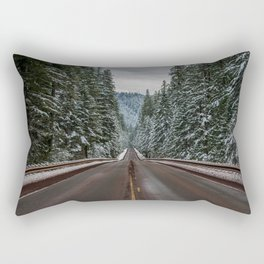 Winter Road Trip - Pacific Northwest Nature Photography Rectangular Pillow