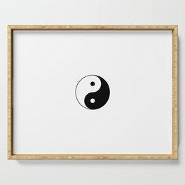 Yin and Yang 10 - Tao,Zen,Taoism,Dao,Harmony,religion,buddhism,buddhist,taijitu,taiji,taoist,china Serving Tray