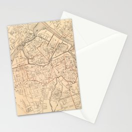 Vintage Map of Lowell MA (1904) Stationery Cards