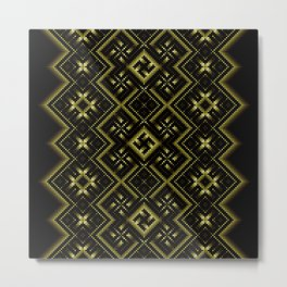 Solar signs. Ancient ornament. Sacred geometry Metal Print