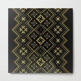 Solar signs. Ancient ornament. Sacred geometry Metal Print