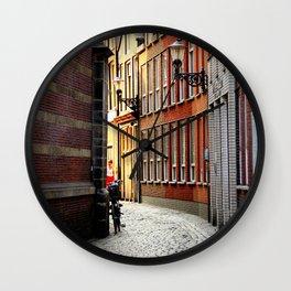Alley in Amsterdam Wall Clock