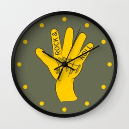Palmistry Rock and Roll Wall Clock