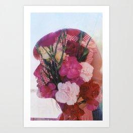 floral silhouette Art Print