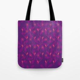 Flowerline – violet Tote Bag