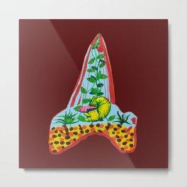 Shark Tooth Terrarium 9 Metal Print