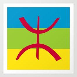 Flag of Berber Art Print