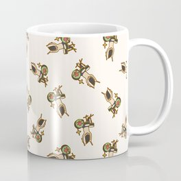 Drummer Pattern   Drums Musician Percussion Music Coffee Mug