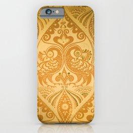 Ornamental Lovebirds Decorative Gold iPhone Case