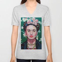Frida Kahlo Love Unisex V-Neck