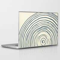 tree rings Laptop & iPad Skins featuring Tree Rings by Chase