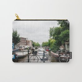 Bicycles in Amsterdam canal Carry-All Pouch