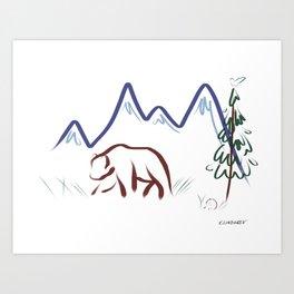 Mountain Air II Art Print