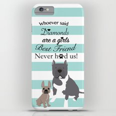 Custom work for allaboutnapo (cartoon pitbull and a frenchie) Slim Case iPhone 6 Plus