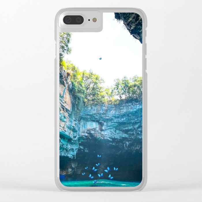 Sea Cave in Greece Clear iPhone Case