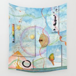Song for Orange Bellied Parrot Wall Tapestry